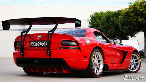 Swan Neck Chassis Mount Wing for Dodge Viper (ZB)
