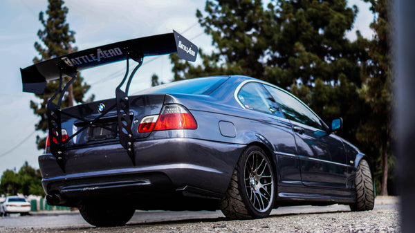 V1 Chassis Mount Wing for BMW 3 Series (E46)