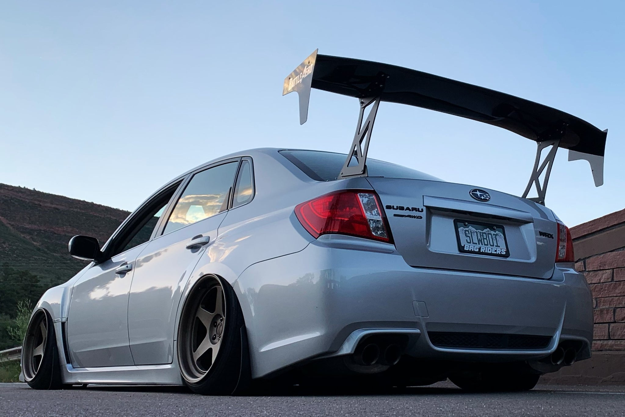 "Force 3 (70"") GT Wing for 08-14 Subaru WRX / STI (GV)"