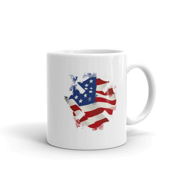Fire Fighter Maltese Cross American Flag Coffee Mug