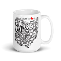 Ohio Mandela Home Is Where The Heart Is Coffee Mug