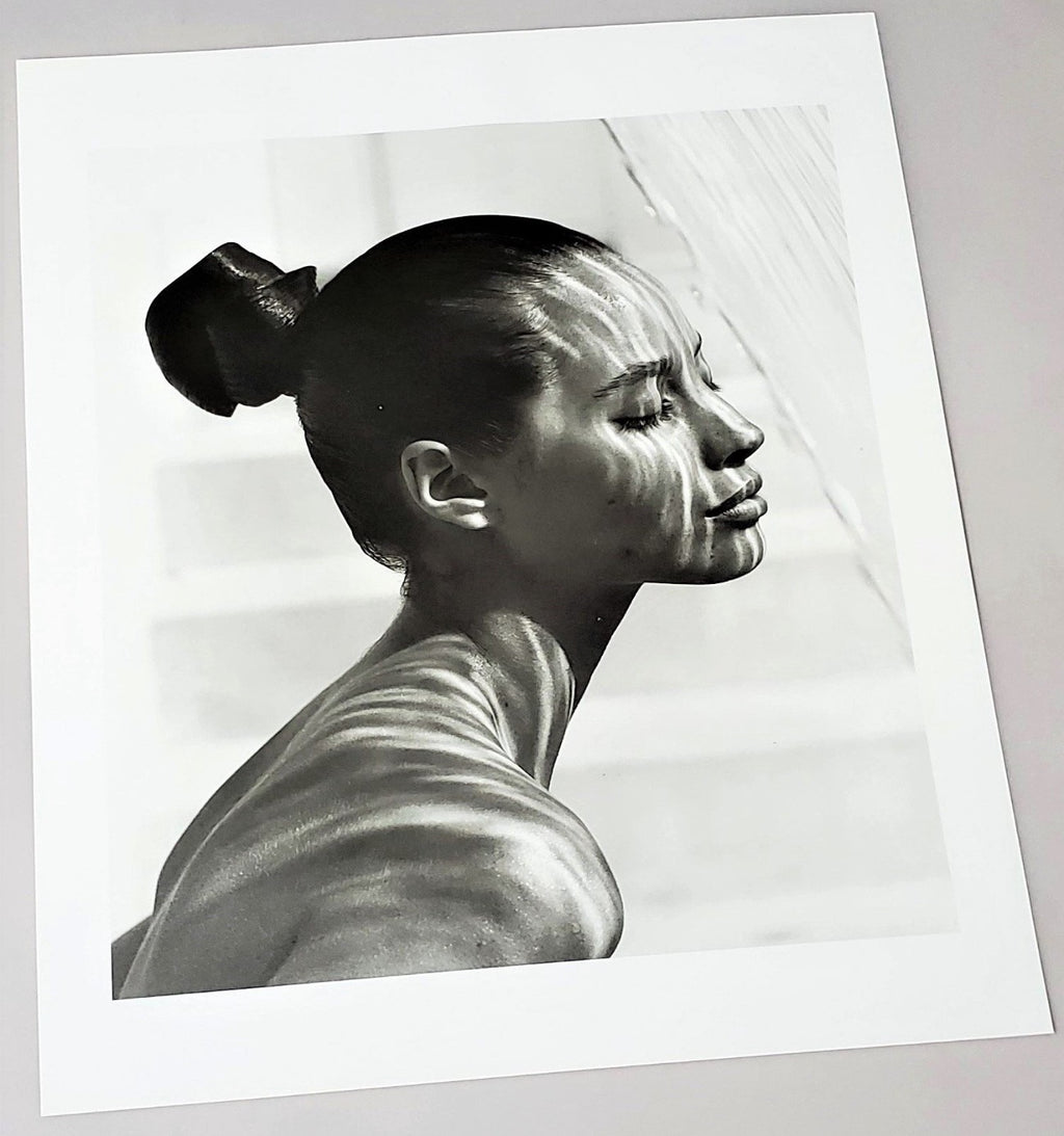 Original Herb Ritts photograph of Supermodel Christy Turlington page featured featured in 1998 Men/Women