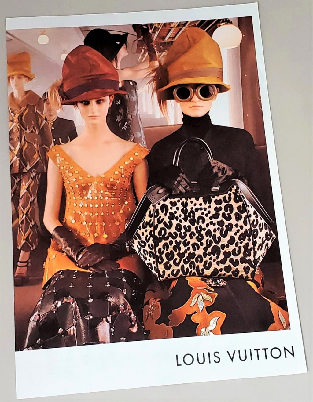 Original Louis Vuitton photograph advertisement page featured in September 2012 of Vogue magazine