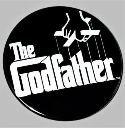 "The Godfather logo handcrafted 3.5"" round hand mirror"