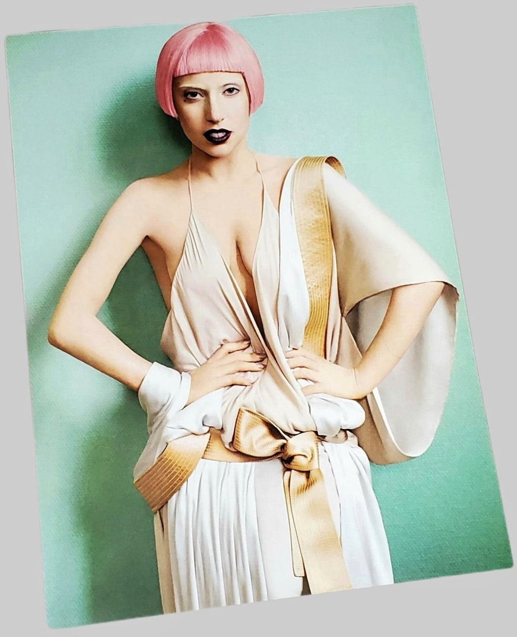 Lady Gaga photograph Vogue March 2011. Photograph page featured in Vogue x Music book