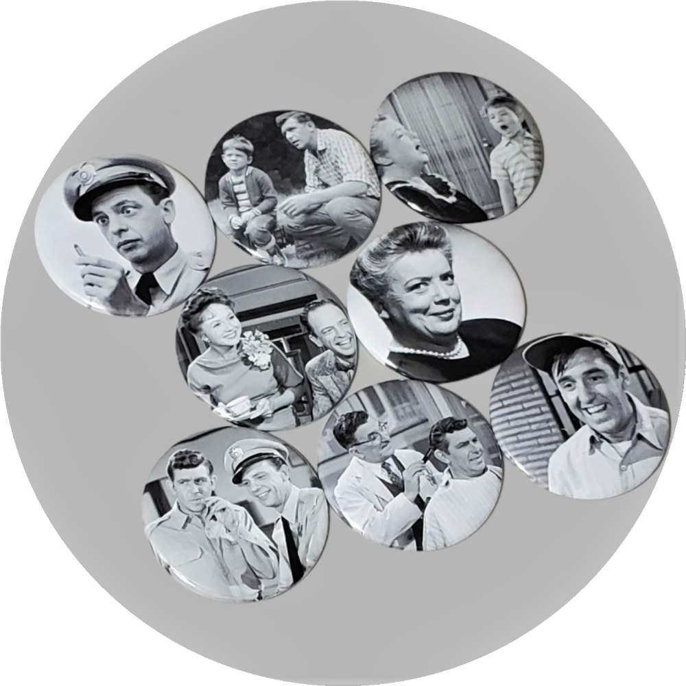 "The Andy Griffith Show handcrafted 8PC 2.25"" round magnetic collection"