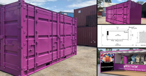 Meet Our Merch Container