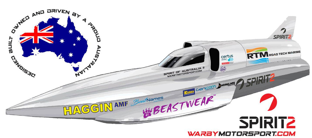 Spirt of Australia II Speed Boat Beastwear