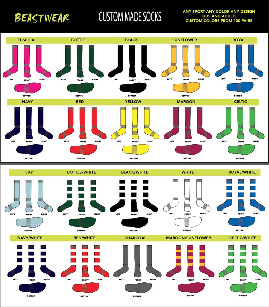 custom made socks for any sports