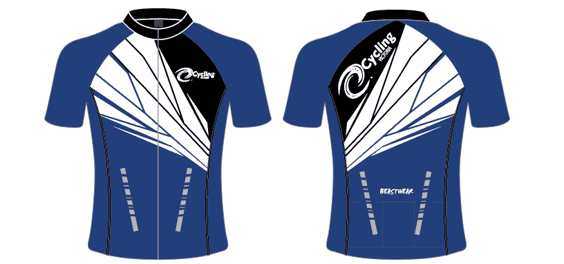 Blue/White Cycling Victoria Jersey