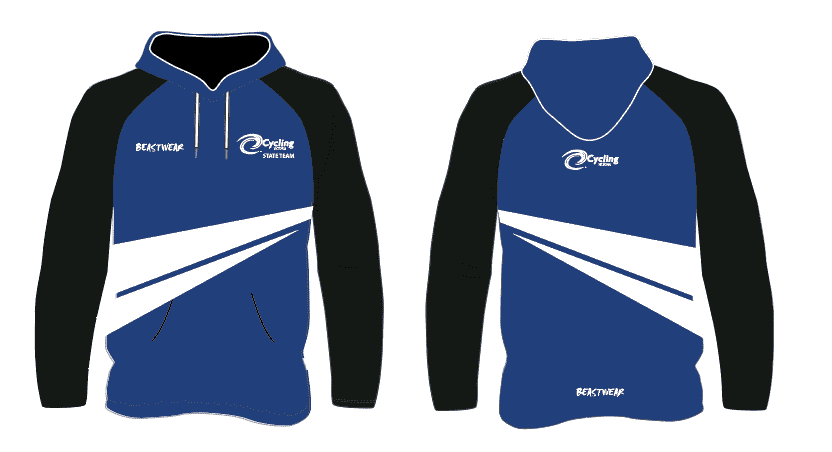 Blue Cycling Victoria Hoodie