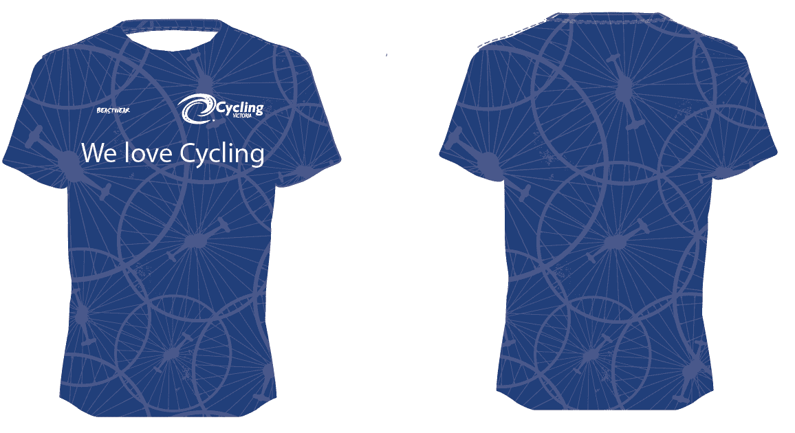 Blue Cycling Victoria T-Shirt