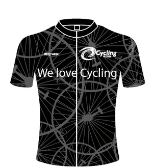 Black Cycling Victoria Jersey