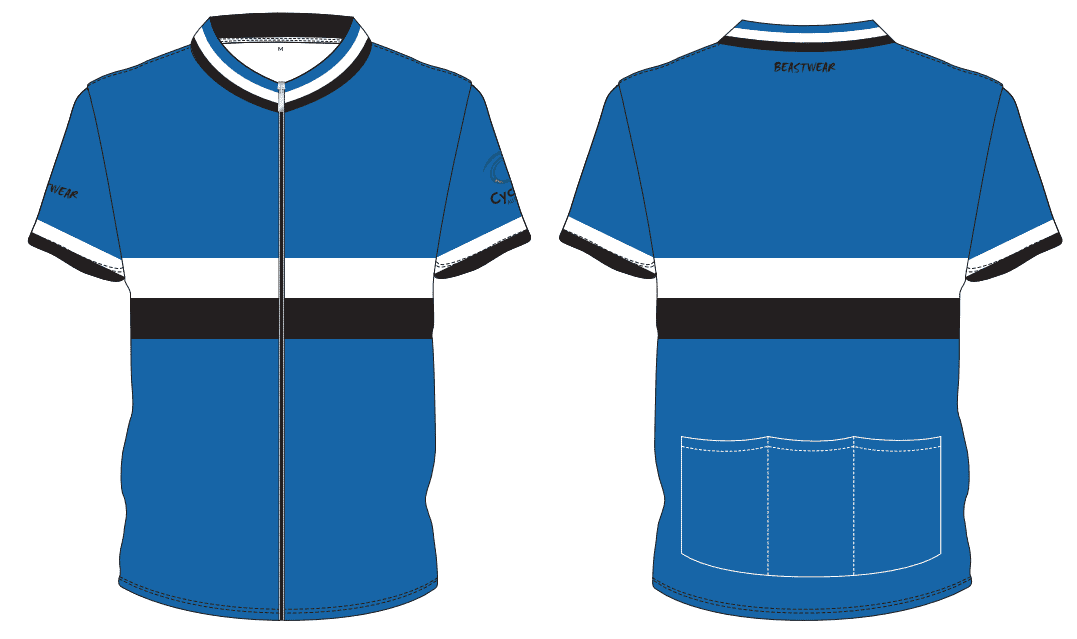 Cycling Jersey-ROYAL/WHITE/BLACK - CA2018 -     [CA-J1]