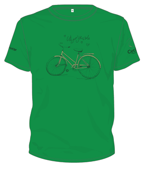 Cycling Australia T-Shirt – Let's Go For A Ride (Green) [CA1001GREEN]