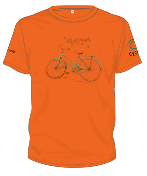 Cycling Australia T-Shirt - Let's Go For A Ride (Orange) [CA1001ORANGE]