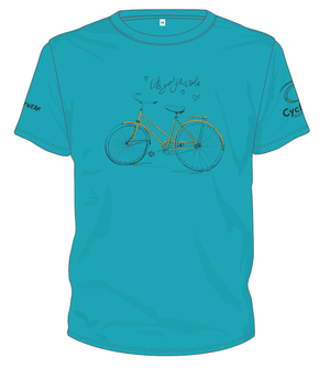 Cycling Australia T-Shirt - Let's Go For A Ride (Teal) [CA1001TEAL]
