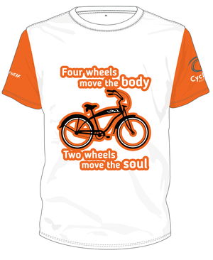 Cycling Australia T-Shirt - Two Wheels Move The Soul (Orange) [CA12001ORANGE]
