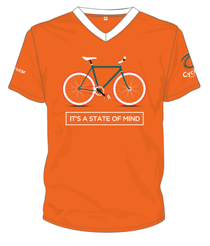 Cycling Australia T-Shirt - It's A State Of Mind (Orange) [CA3001Orange]