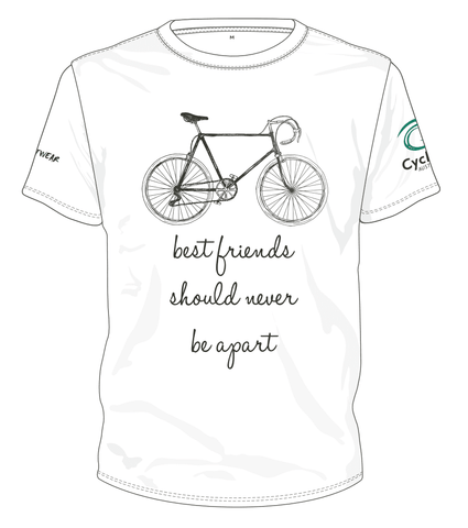 Cycling Australia T-Shirt - Best Friends Should Never Be Apart (White) [CA4001White]