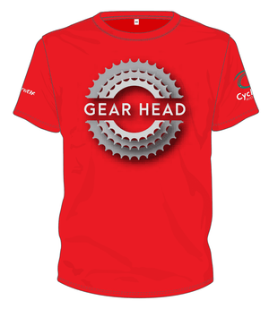 Cycling Australia T-Shirt - Gear Head (Red) [CA5001Red]
