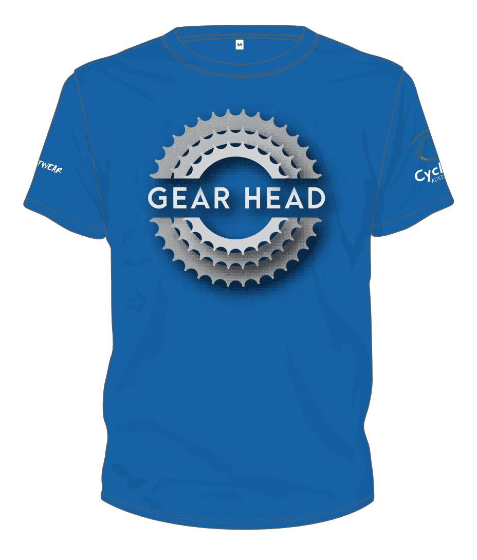 Cycling Australia T-Shirt - Gear Head (Royal Blue) [CA5001ROYAL]