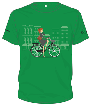 Cycling Australia T-Shirt - City Bike (Green) [CA6001GREEN]