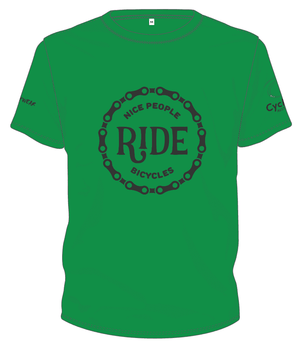 Cycling Australia T-Shirt - Nice People Ride Bicycles (Green) [CA7001Green]