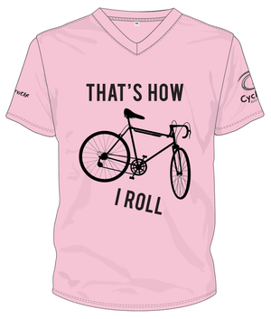 Cycling Australia T-Shirt - That's How I Roll (Pink) [CA8001Pink]
