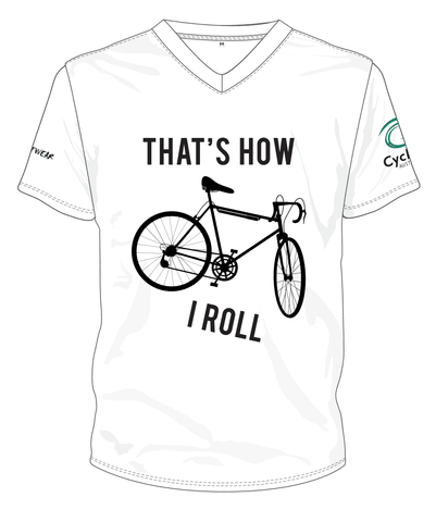 Cycling Australia T-Shirt - That's How I Roll (White) [CA8001White]