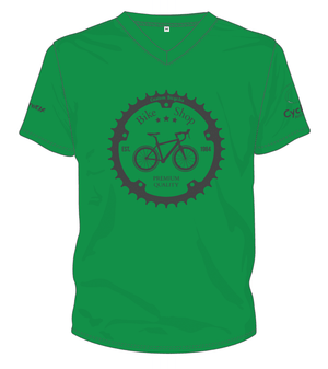 Cycling Australia T-Shirt - Retro Bike Shop (Green) [CA9001Green]
