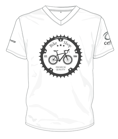 Cycling Australia T-Shirt - Retro Shop And Service (White) [CA9001White]