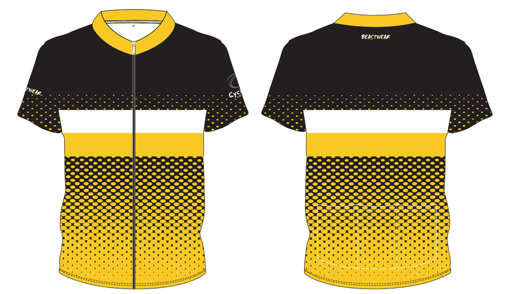 Cycling Jersey-BLACK/WHITE/GOLD - CA2018 -     [CAJ4]