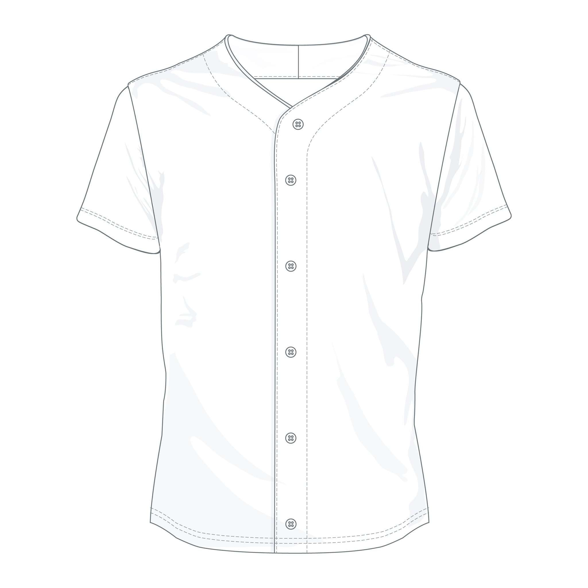 Custom Baseball Button-Up Jersey