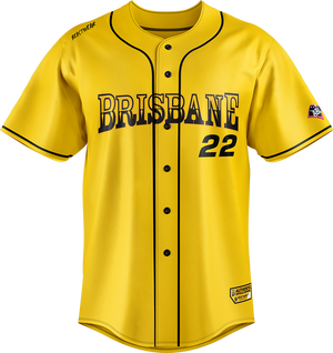 Replica Brisbane Bandits Baseball Jersey - Away (Yellow)