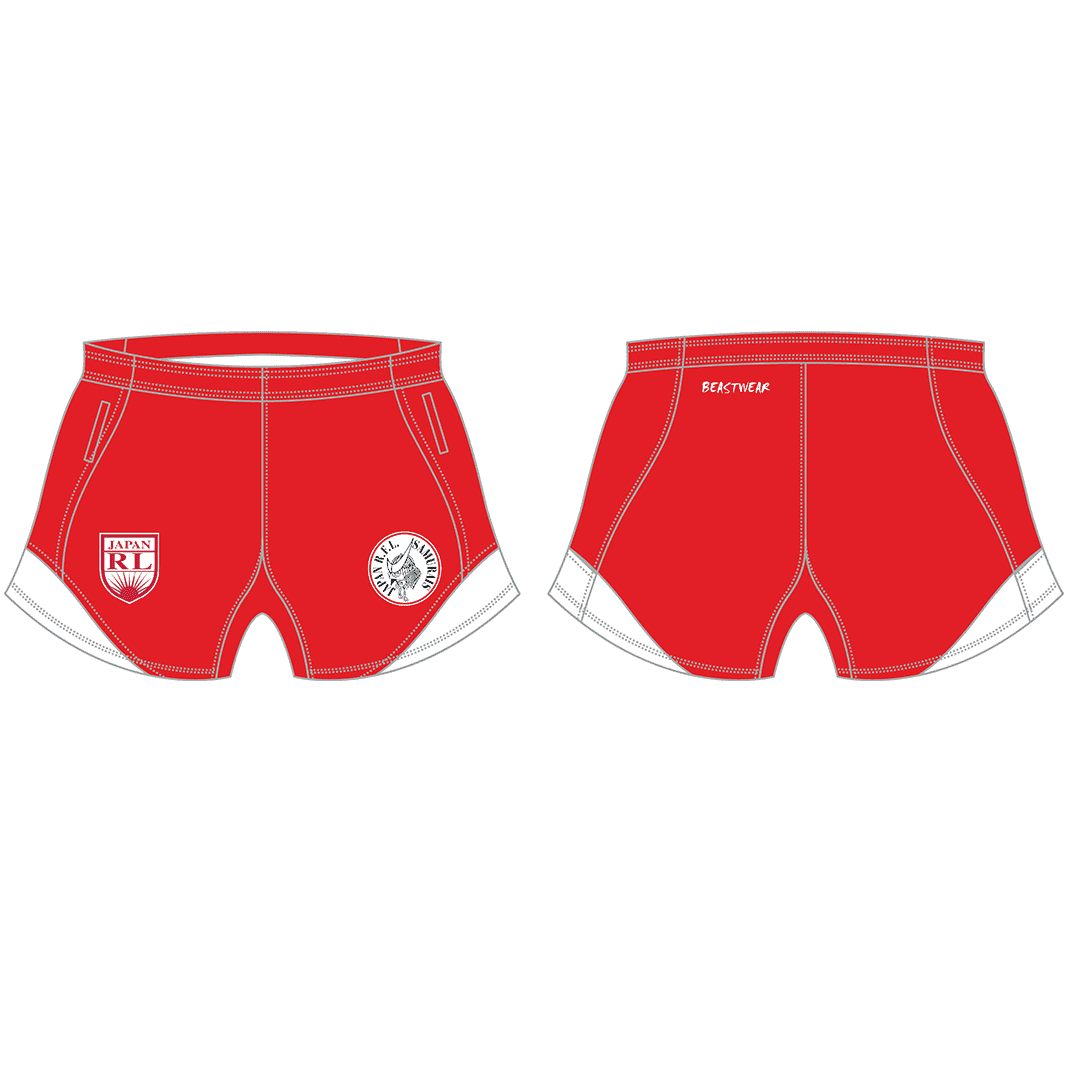 Playing Shorts (red) Japan Rugby League