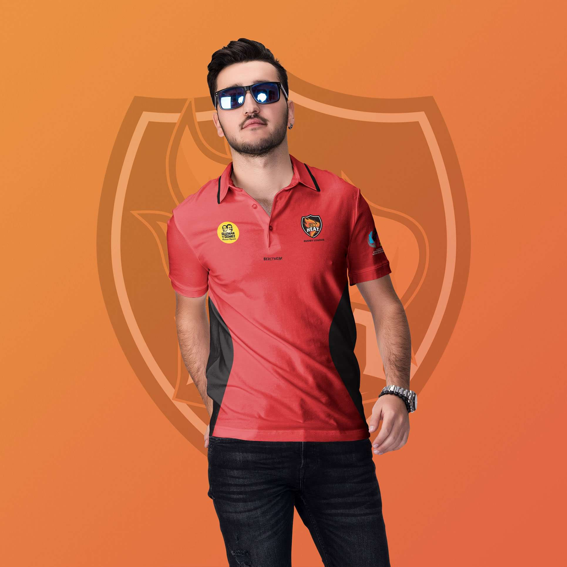 Polo Shirt Latin Heat Rugby League