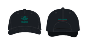 Mt Beauty Swimming Club Cap (Black/Green)