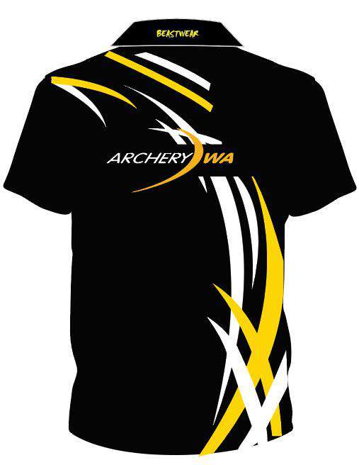 Polo - Black/Yellow/White WA Archery