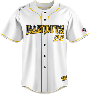 Replica Brisbane Bandits Baseball Jersey - Home (White)