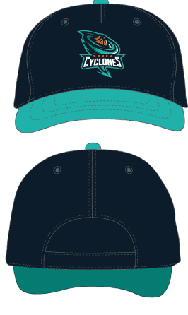 Cap - Blue and Teal Lip Design Noosa Basketball