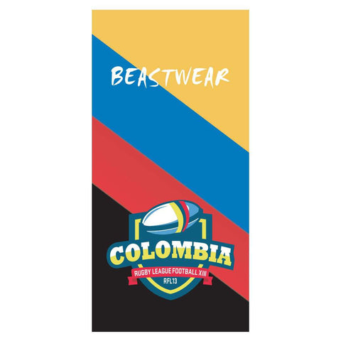 Beach Towel - Colombia Rugby League