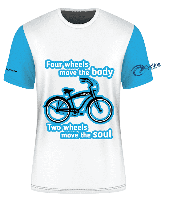 Cycling Victoria  T Shirt 4- Free Shipping Australia Wide