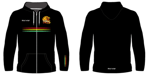 Hoodie - Black Design Northern United RLFC