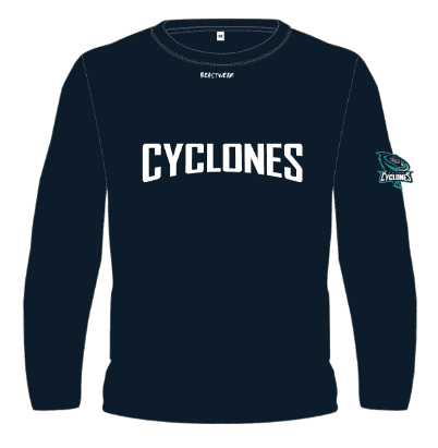 Long Sleeve Jumper - Curved Text Design Noosa Basketball