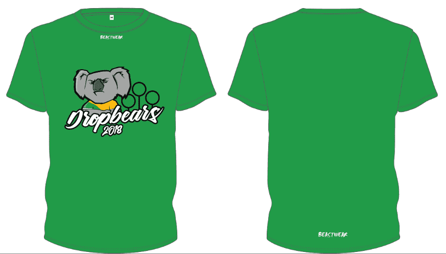 Green T-Shirt - Dropbears