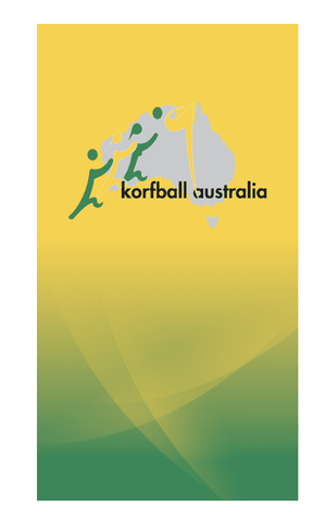 Australian 2019 World Korfball Championships Towel