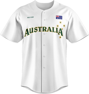 Official Team Australia Baseball Replica Jersey - White
