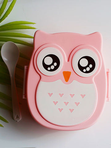 cute owl bento lunch box miki and mod. Black Bedroom Furniture Sets. Home Design Ideas
