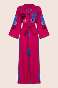 Barcelona Midi Dress in Fuschia